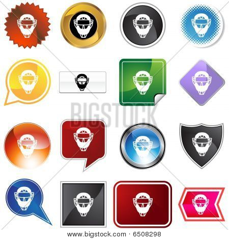 Umpire mask Helmet Variety Set