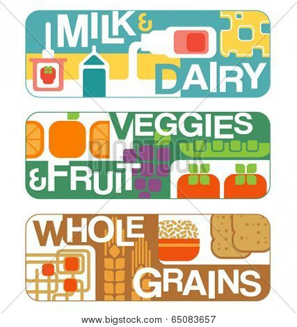 Food groups banners