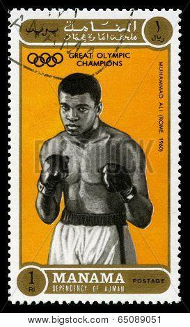 Muhammad Ali Olympic Champion Postage Stamp