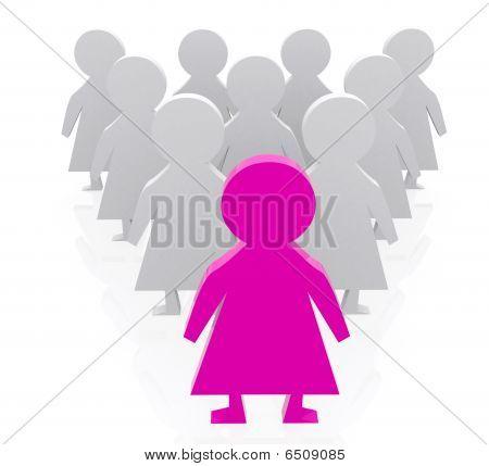 Pyramid Of Female Dolls