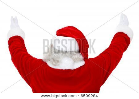Back Of Excited Santa Claus