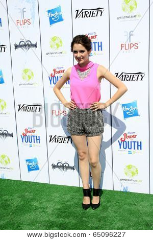 LOS ANGELES - JUL 27:  Laura Marano at the Variety's Power of Youth  at Universal Studios Backlot on July 27, 2013 in Los Angeles, CA