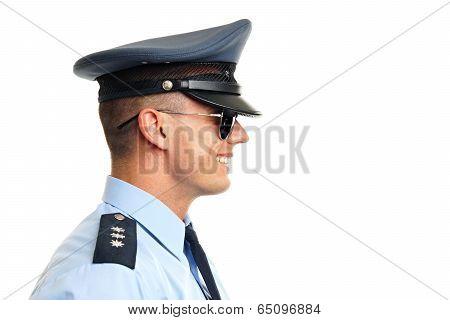 Profile of policeman