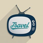 picture of televisor  - Concept for travel industry exploration and travel culture - JPG