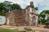 image of malacca  - The ruined gates of Portuguese fort A Famosa Porta de Santiago - JPG
