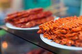 stock photo of intestines  - Chicken intestines pig ears and pig intestines  - JPG