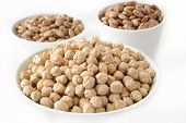 image of pinto bean  - pinto beans and garbanzo beans in bowl - JPG