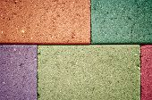 picture of stockade  - colorful of Concrete Wall concrete blocks A mix of cement blocks turnovers - JPG