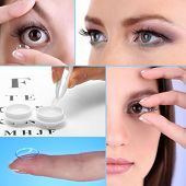 foto of snellen chart  - Contact lens collage - JPG