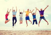 stock photo of jumping  - summer - JPG