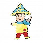 stock photo of magical-mushroom  - cartoon magical mushroom man - JPG