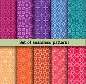 picture of tile  - set of seamless patterns - JPG