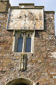 picture of sundial  - A sundial on the front of St Matthew - JPG