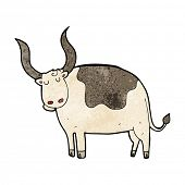 stock photo of oxen  - cartoon ox - JPG