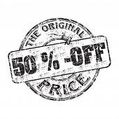 ������, ������: Fifty percent off rubber stamp