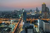 stock photo of cbd  - Bangkok Central Business District  - JPG