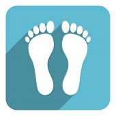 pic of flat-foot  - foot flat icon - JPG