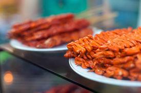 image of intestines  - Chicken intestines pig ears and pig intestines  - JPG
