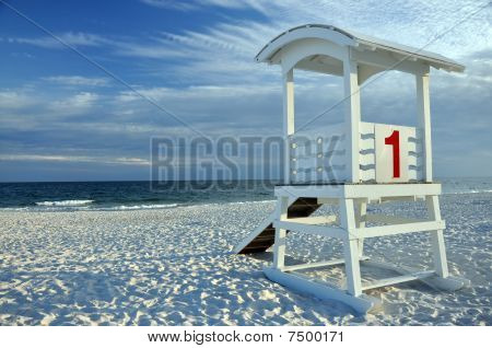 Lifeguard Hut On Beach