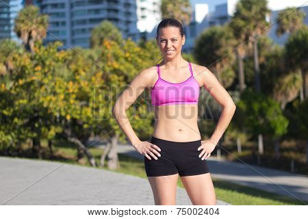 Confident And Fit Hispanic Woman