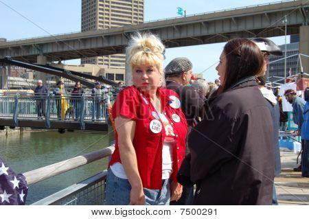 Victoria Jackson at Buffalo,NY Tea Party