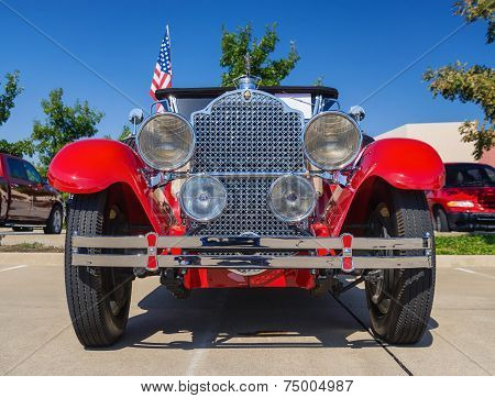 Red 1929 Packard Classic Car