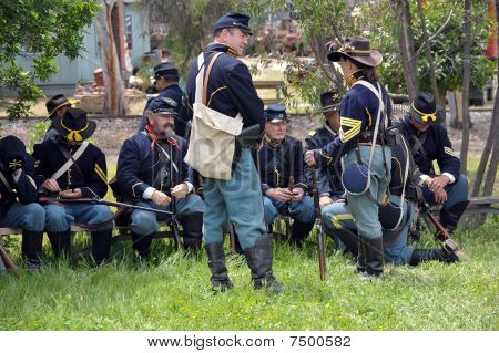 Union Soldiers resting prior to battle