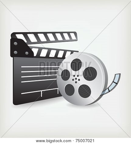 Film Slate with Movie Film