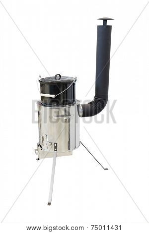 portable stove under the white background