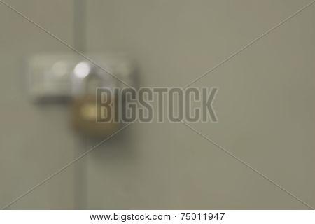 locked cabinet door