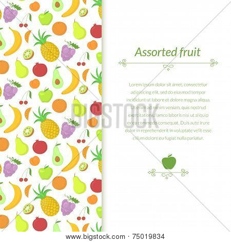 Fruit vector background