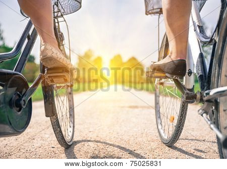 bicycle on the path