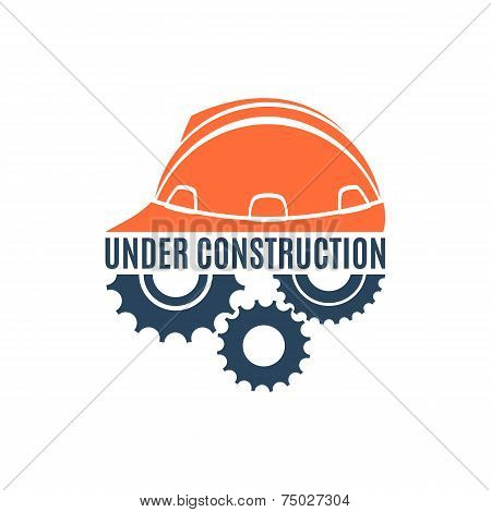 Under construction conceptual logo