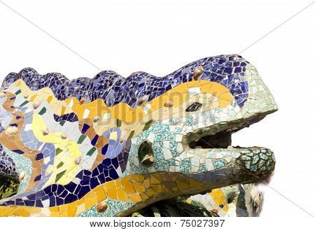 Dragon In Park Guell (barcelona)