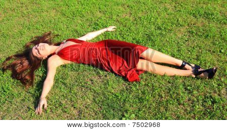 Girl Enjoys Solar Heat