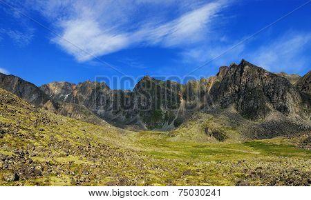 Beautiful Blue Sky Over Mountains