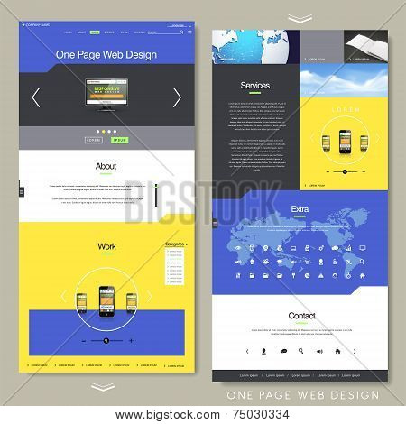 Technology Style One Page Website Design