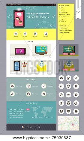 Lovely Business One Page Website Design