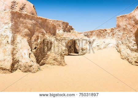 Buildings In Ong Jemel, Tunisia. Ong Jemel Is A Place Near Tozeur, Where The Movies Star Wars