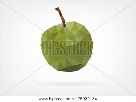 Low Poly Green Greengage Plum