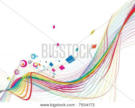 abstract rainbow wave line with space of your text