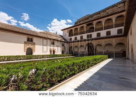 Yard In Nasrid Palace, Granada, Spain