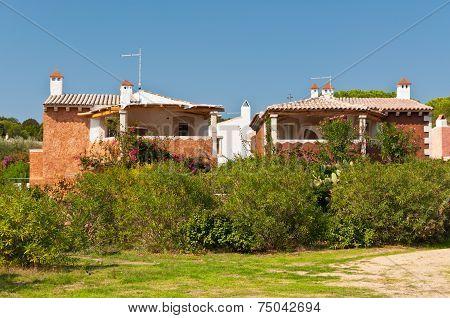 Italy, Sardinia, Typical Villas