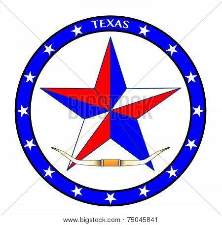 Texas Star And Horns