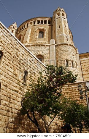 Church Of Dormition On Mount ZionJerusalem Israel.