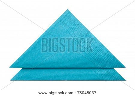 Triangle Napkins Isolated On White Background
