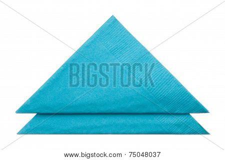 Triangle Napkins Isolated On White Background