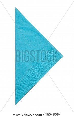 Triangle Napkin Isolated On White Background