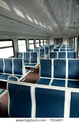 Interior Of A Passenger Train