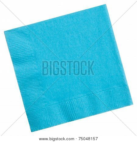 Square Napkin Isolated On White Background